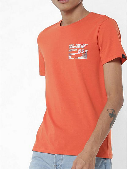 Crew-Neck T-shirt with Placement Print
