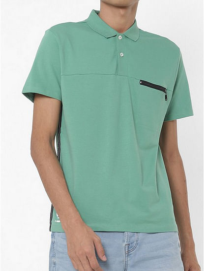 Keff Panelled Polo T-shirt