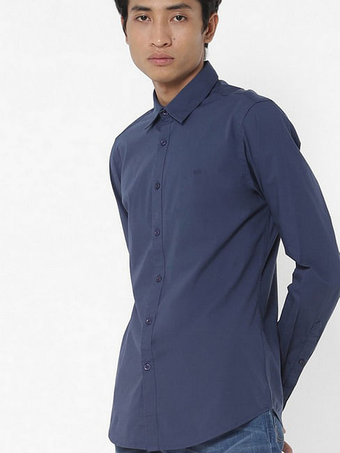 Men's Andrew solid blue shirt