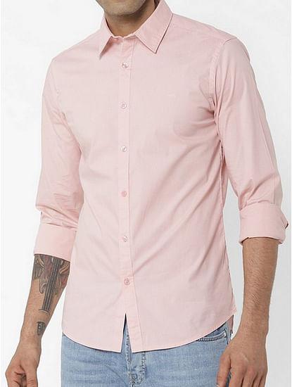 Men's Andrew solid pink shirt