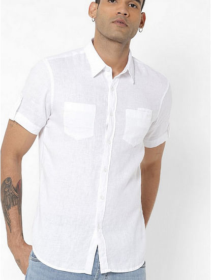 Men's Dab solid white shirt