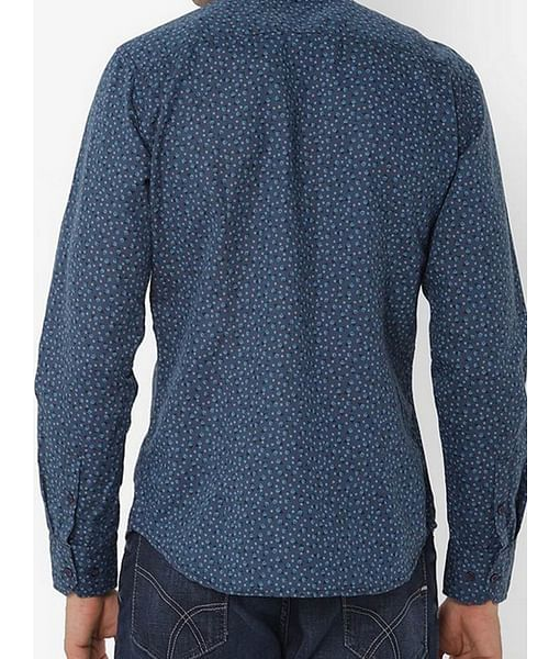 Men's Sir Det all over printed blue shirt