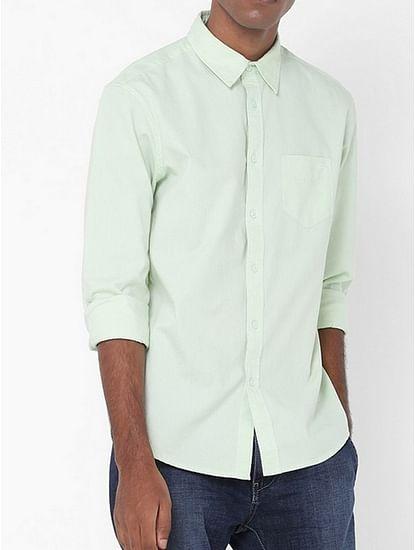 Men's Flix SS solid lime green shirt