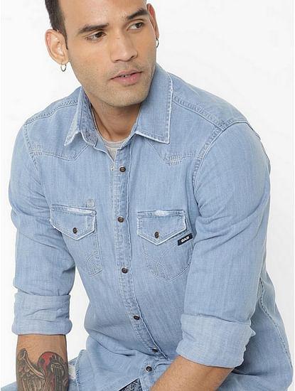 Men's Kant blue denim shirt