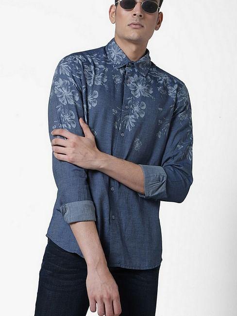 Men's Sir Det printed blue shirt