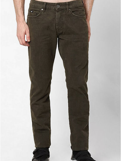 Men's Norton Carrot Fit Olive Jeans