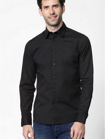 Men's Andrew solid black shirt