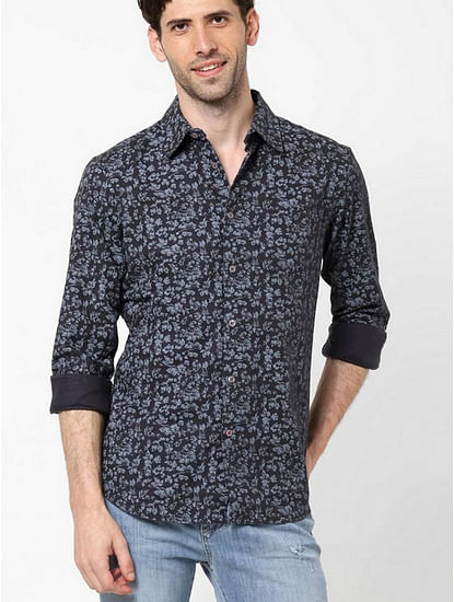 Men's Sir Det floral printed grey shirt