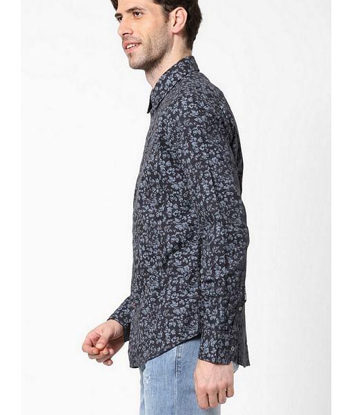 Men's Sir Det floral printed grey shirt