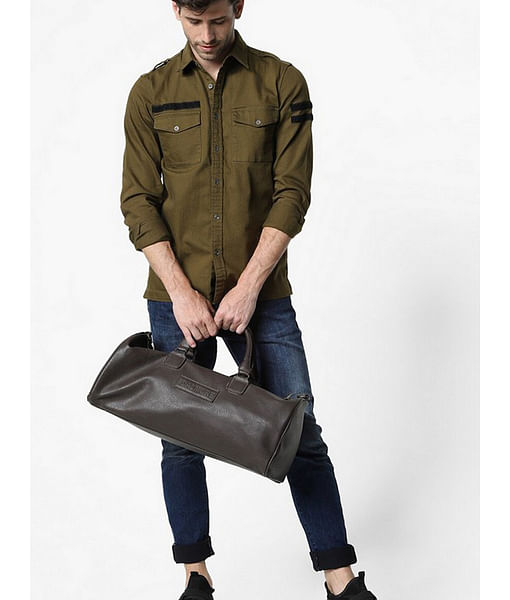 Men'a Terge solid forest night shirt