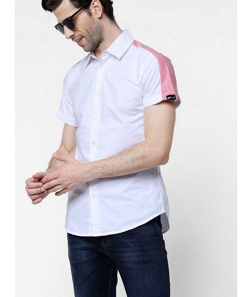 Men's Sir Det solid white shirt