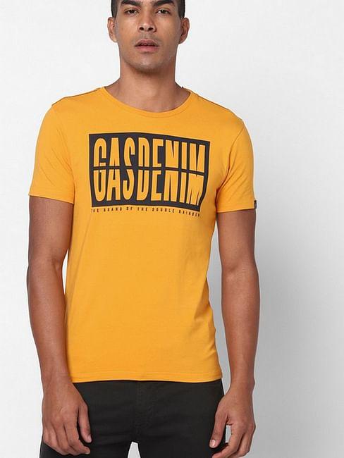 Men's Mauri/s printed round neck pumpkin t-shirt