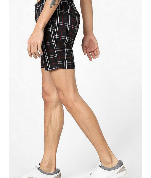 Men's Tiby black checked shorts