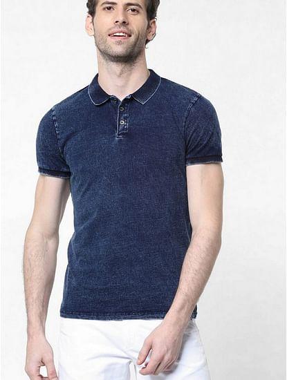 Men's Ralph solid indigo polo t-shirt