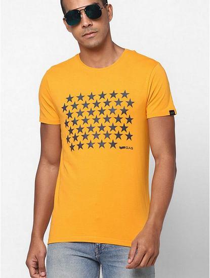 Graphic Print Slim Fit Crew-Neck T-shirt