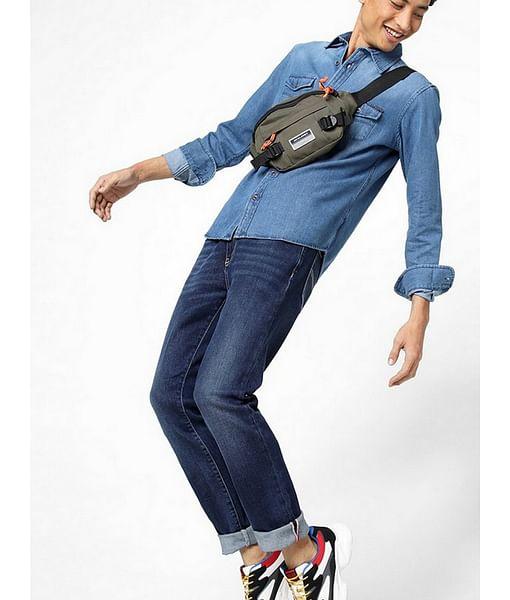 Men's Victore solid blue shirt