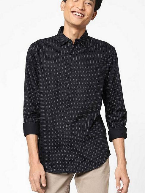 Men's Sir det printed black shirt