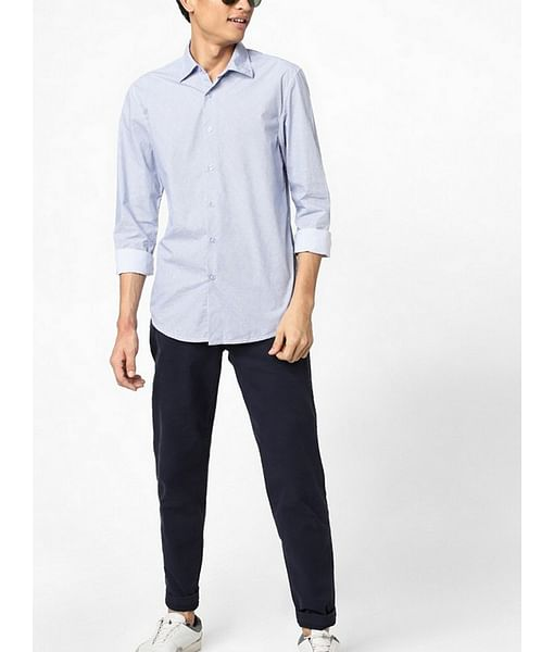 Men's Sir Det blue textured shirt