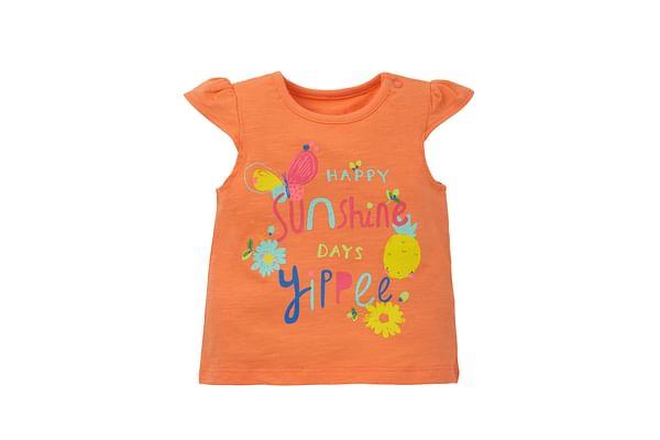 Girls Text Print T-Shirt