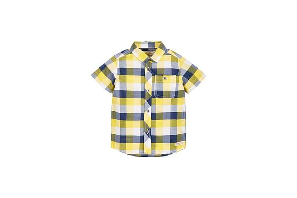 Boys Half Sleeves Check Shirt - Multicolor