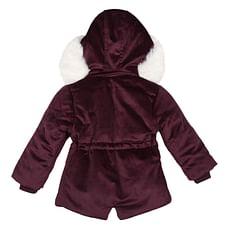 Girls Full sleeves Jacket - Burgundy