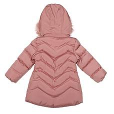 Girls Full sleeves Jacket - Dark Pink