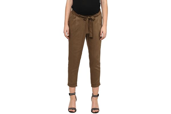 Women Maternity Trousers - Brown