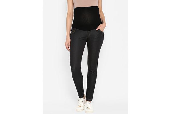 Women Maternity Jeans - Black