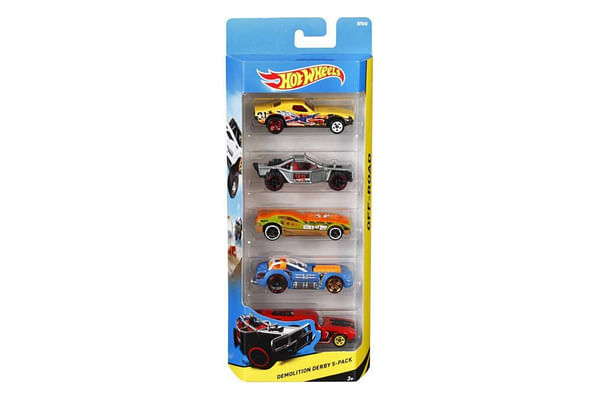 Hot Wheels 5 Car Gift Pack (Colour & Design May Vary)