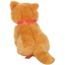 Hamleys Sitting Cat Soft Toy (Brown)