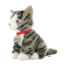 Hamleys Sitting Gray Tabby Cat Soft Toy
