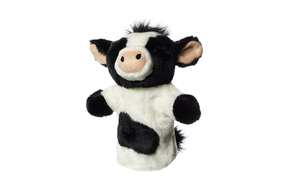 Hamleys Cow Handpuppet (White/Black)