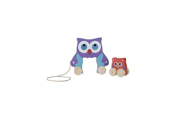 Hamleys Mom And Baby Owl Pullalong Toy