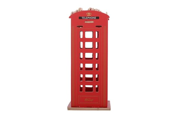 Hamleys Wooden Phone Booth Construction Kit, Red