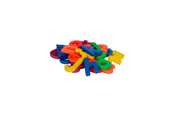 Comdaq  Magnetic English Letter - Lower Case, Multi Color (26 Pieces)