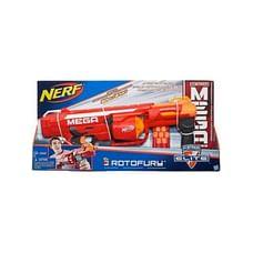 Nerf Mega Rotofury Blaster -- 10-Dart Rotating Drum -- Pump Action Blasting -- Includes 10 Nerf Mega Darts -- For Kids, Teens, Adults