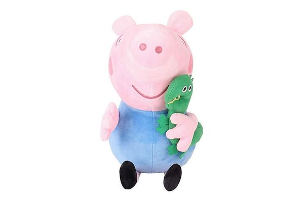 Peppa George Pig With Dinosaur Plush, Multi Color (19Cm)