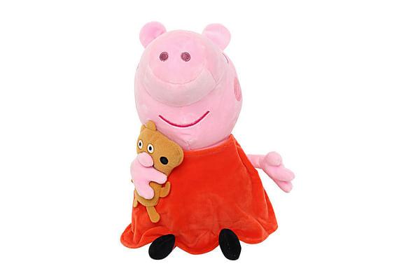 Peppa  Pig With Bear Plush, Multi Color (30Cm)