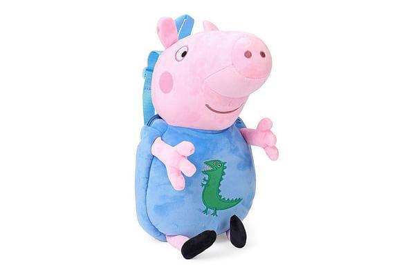 Peppa George Pig Plush Toy Bag, Multi Color (44Cm)