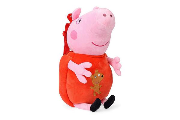 Peppa  Pig Plush Toy Bag, Multi Color (44Cm)