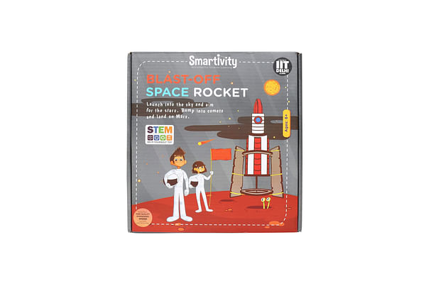 Smartivity Blast Off Space Rocket For 6+ Years Boys And Girls, Stem, Learning, Educational And Construction Activity Toy Gift (Multi-Color)