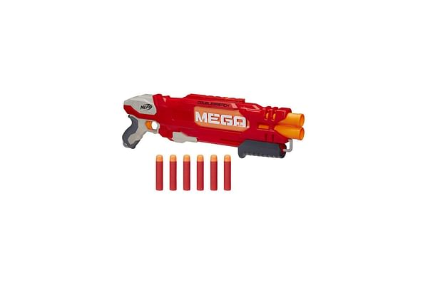 Nerf Mega Doublebreach Blaster -- Breech Load, Pump Action -- Fire 2 Darts In A Row -- Includes 6 Official Nerf Mega Darts