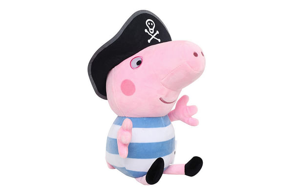 Peppa  Pig Plush In Pirate Costume, Multi Color (30Cm)
