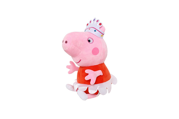 Peppa  Pig Plush With Crown, Multi Color (30Cm)