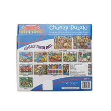 Melissa & Doug 3725 Vehicles Chunky Wooden Puzzle, Multi Color
