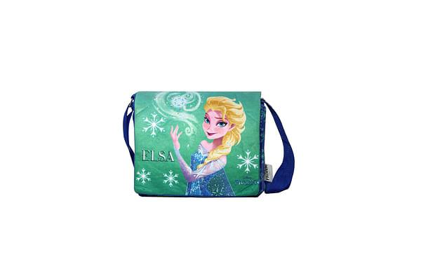 Disney Happiness Unisex Frozen Elsa Printed Sling Bag_Blue