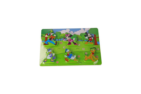 Disney Wooden Puzzle 7Pcs - Mickey And Friends