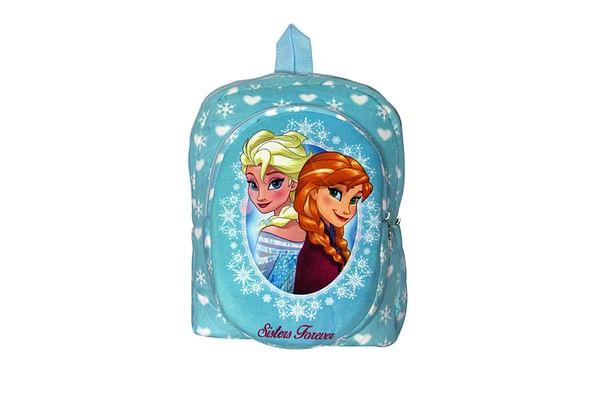 Disney Happiness Girls Zipper Closure Frozen Print Backpack_Blue_Free Size