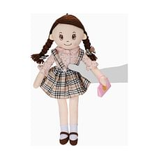 Candy Dolls Chk Dress Pruse In Hand Sml