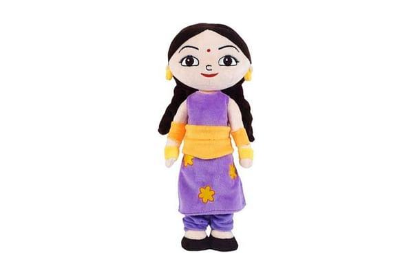 Chhota Bheem Kung Fu Chutki Action Plush Toy- 33Cm